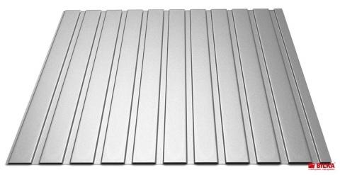 Bilka Tablă Cutată T8 0.5 mm Lucios ArgintiuRAL 9006