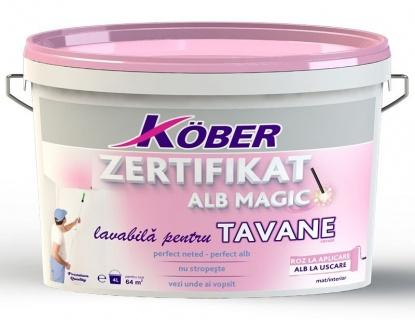 Vopsea lavabila de interior Zertifikat Alb Magic pentru Tavane 4l