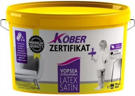 Vopsea ultralavabila de interior Zertifikat + Satin Latex 8.5 L